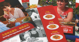 Brochure design for Lucky Boat Noodles - The Finishing Post, Suffolk Design Agency