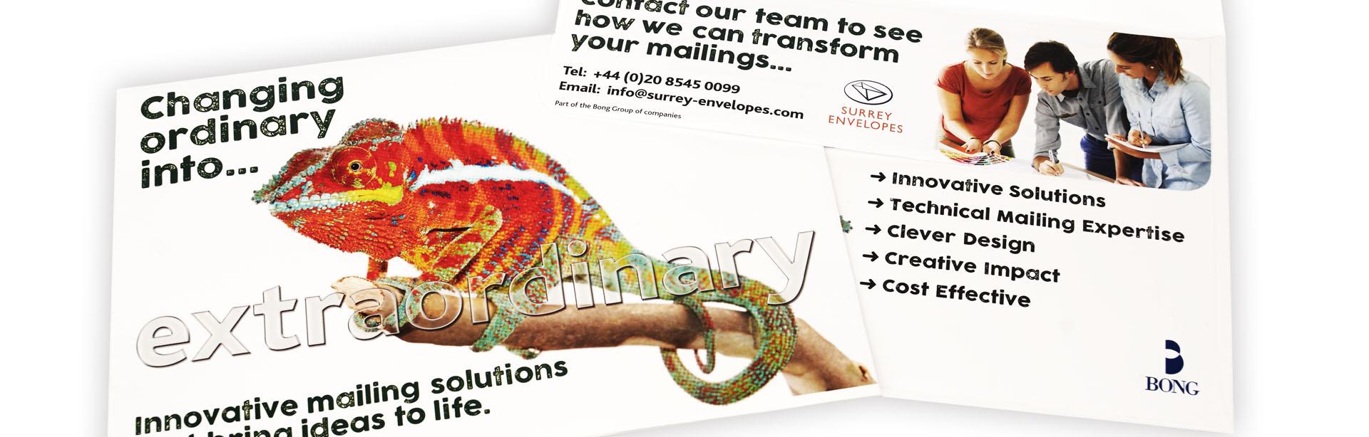 Bespoke direct mail design for Bong UK