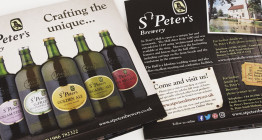 St Peter's Brewery, Suffolk - brochure design