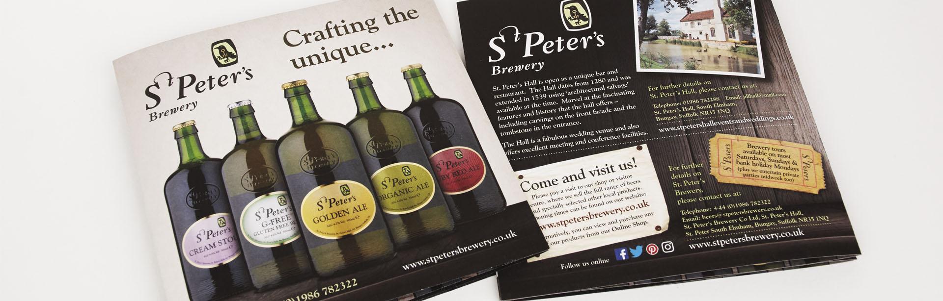 St Peter's Brewery, Suffolk - brochure design