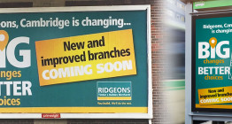 Ridgeons advertising campaign - advertising East Anglia