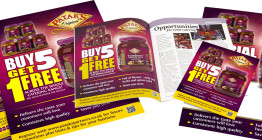 Marketing & advertising campaign for food brand Patak's catering range - The Finishing Post Design & Marketing Consultants, Suffolk, East Anglia.