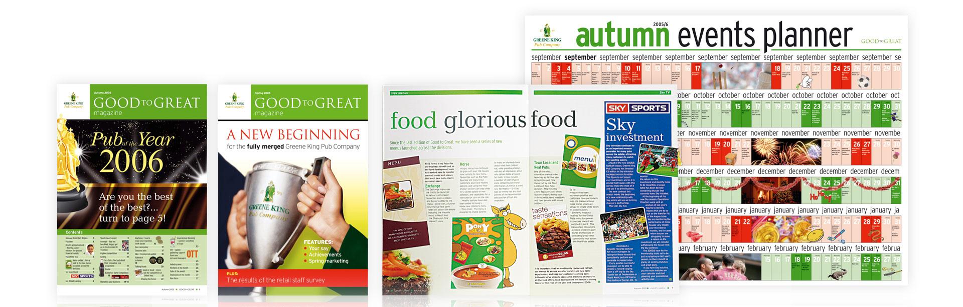 greene king company newsletter design the finishing post