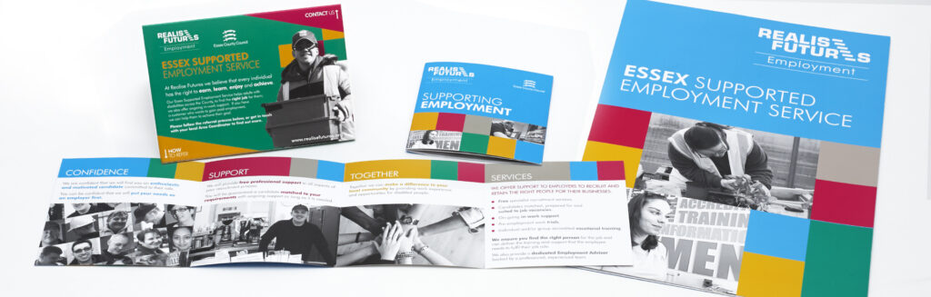Realise Futures Supported Employment Service literature design