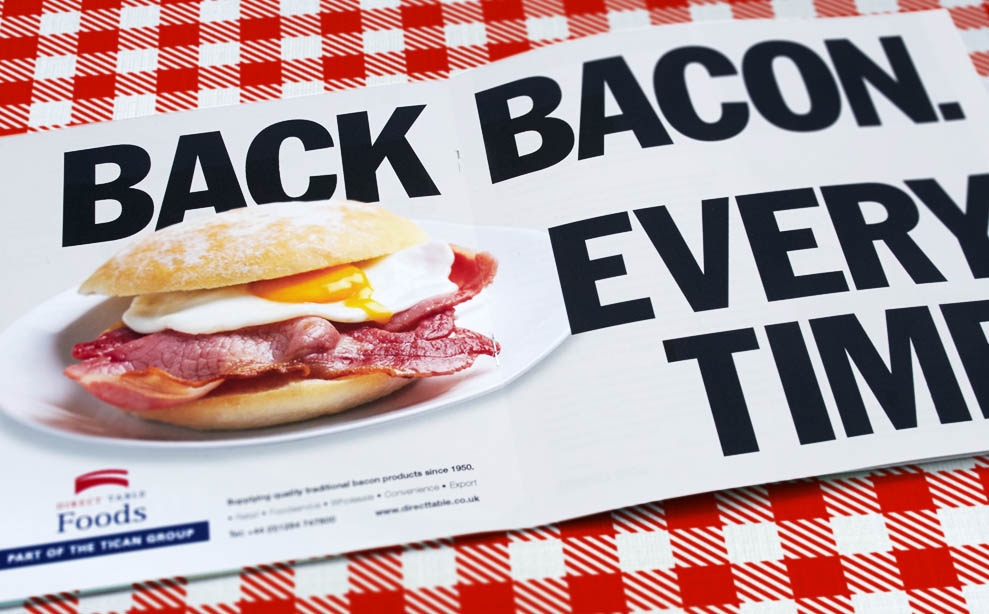 Direct Table 'Back Bacon' trade advertising
