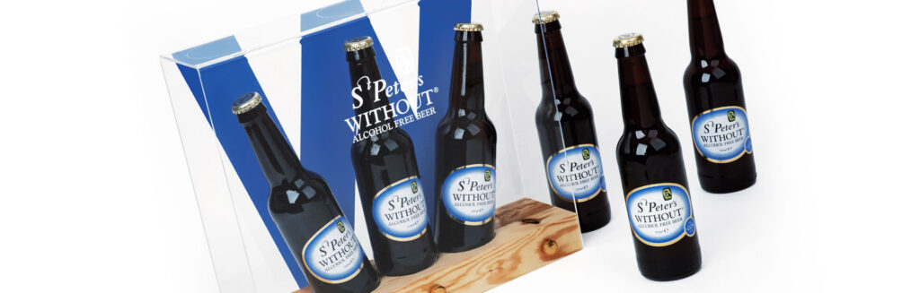 St Peter's Brewery alcohol free beer point of sale design