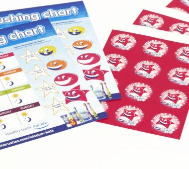 Wisdom brushing chart & stickers
