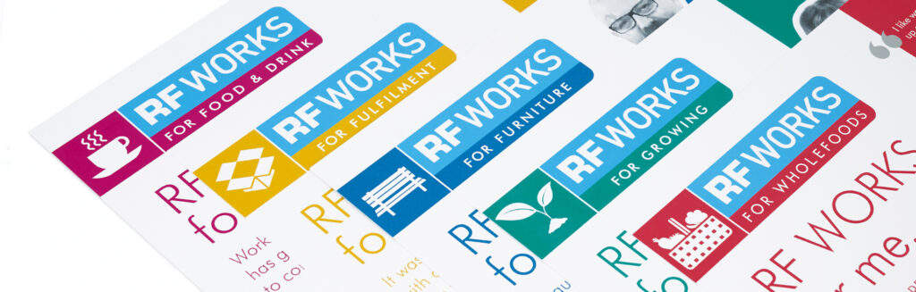 Realise Futures RF WORKS branding and launch materials