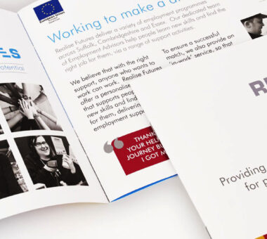 Realise Futures services and products brochure