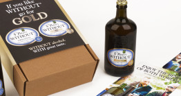packaging design for St Peter's Brewery Without® Gold - Suffolk design agency