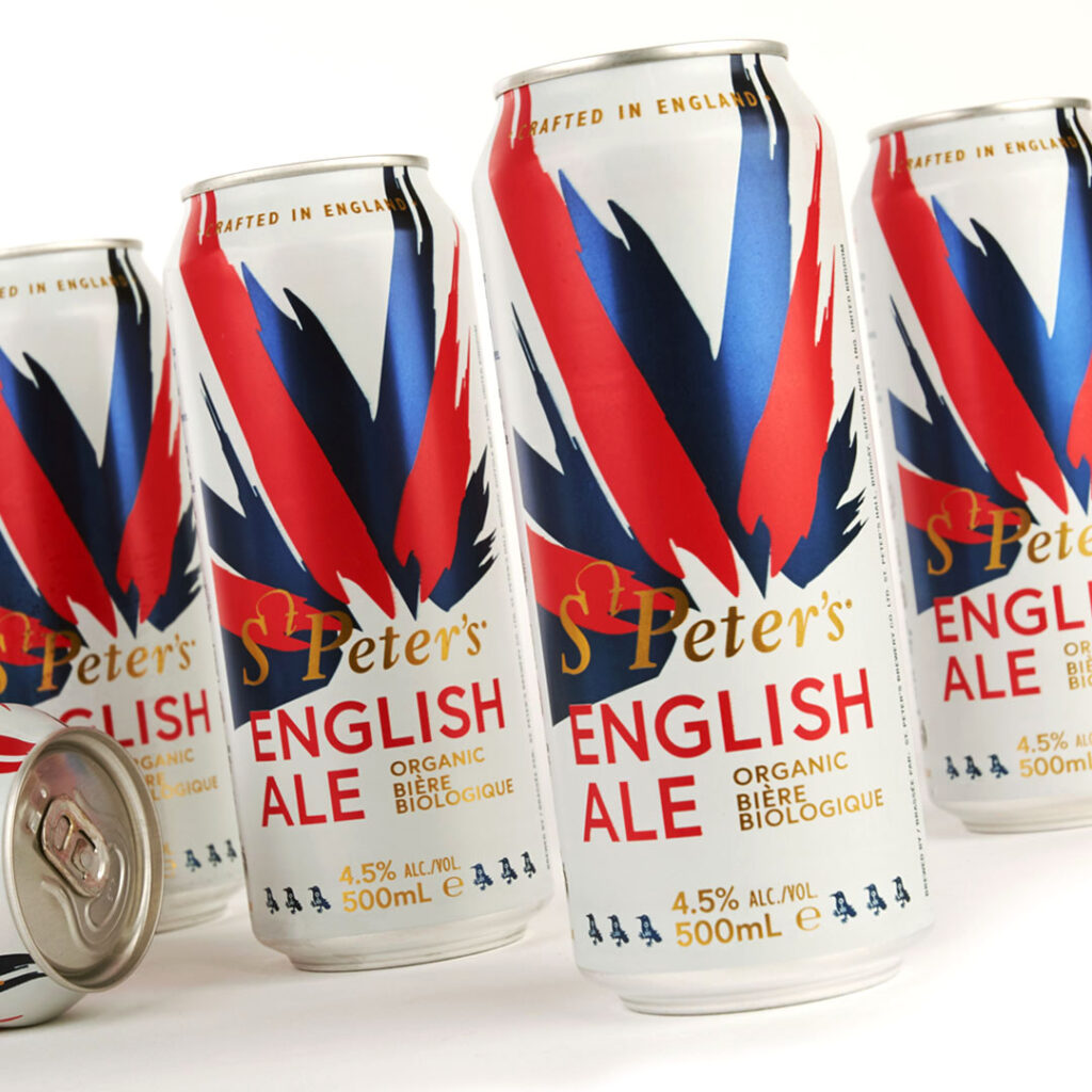 St Peter's Brewery English Ale can packaging design