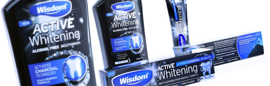Wisdom Active Whitening branding & packaging design
