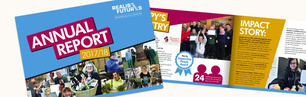 Realise Futures Annual Report design