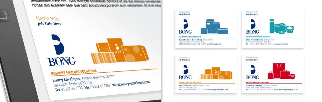Bong corporate identity branding