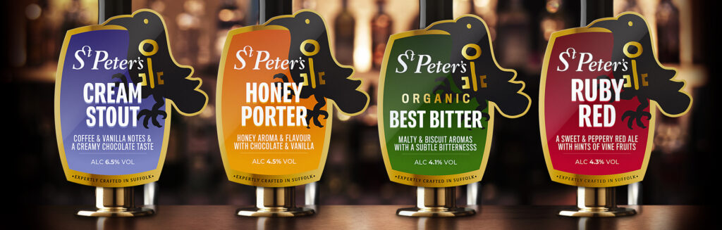 St Peter's Brewery branding and pump clip designs