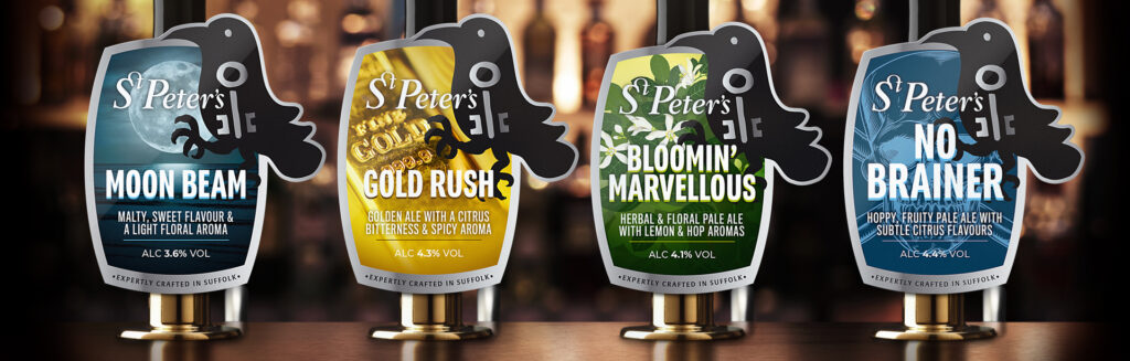 Beer point of sale by Suffolk creative agency The Finishing Post