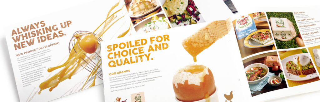 Noble Foods The Great British Egg Co. brochure design