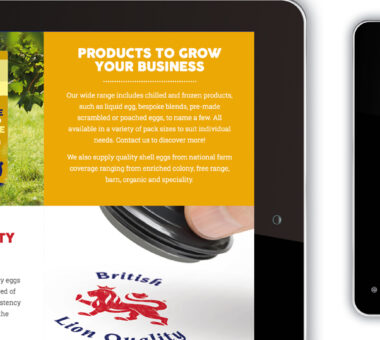 Noble Foods The Great British Egg Co website