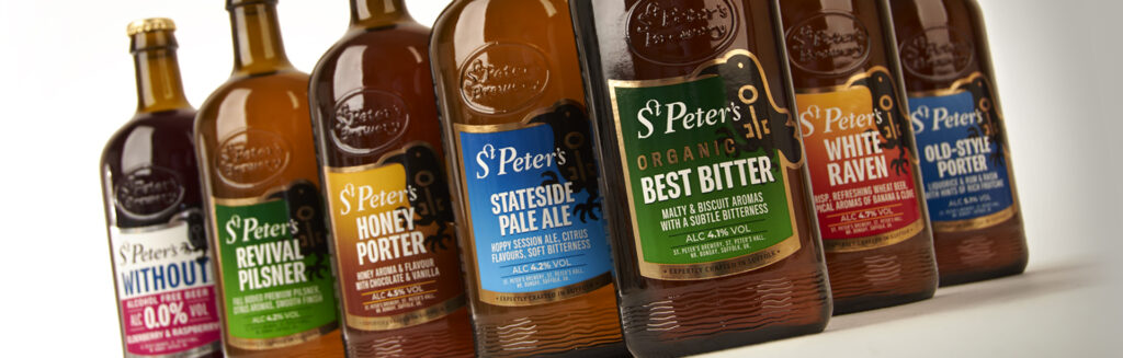 St Peter's Brewery branding and packaging design