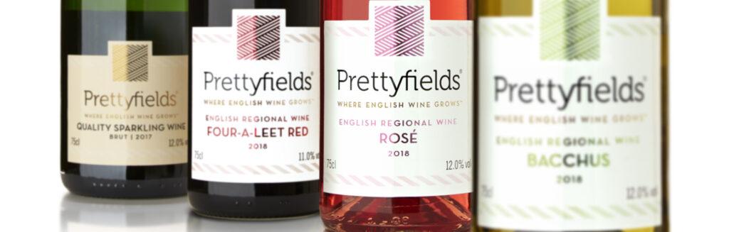 Prettyfields wine label packaging design
