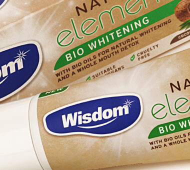 Wisdom Natural Elements toothpaste branding & packaging design