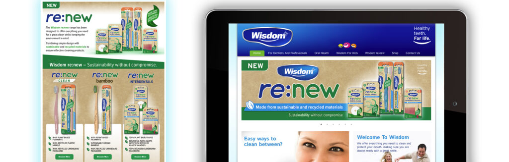 Wisdom re:new website content creation