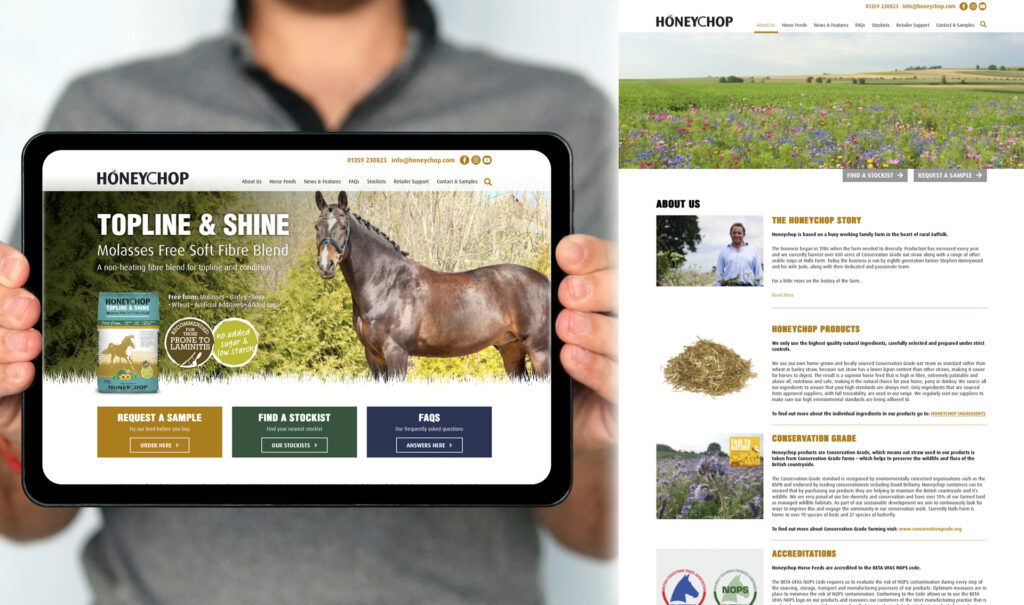 Honeychop Website Design