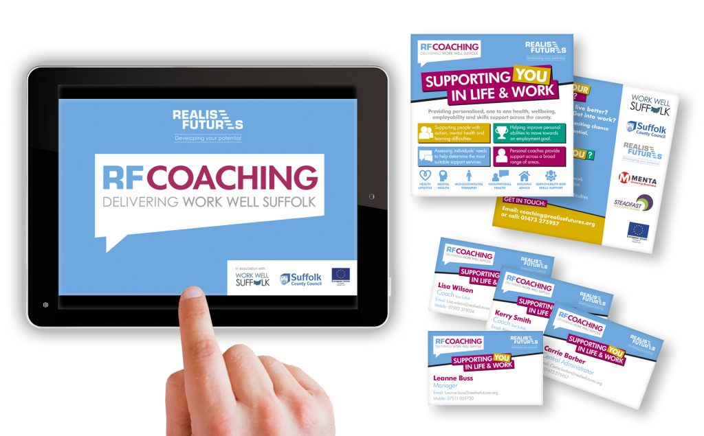 Realise Futures RF Coaching campaign and marketing materials