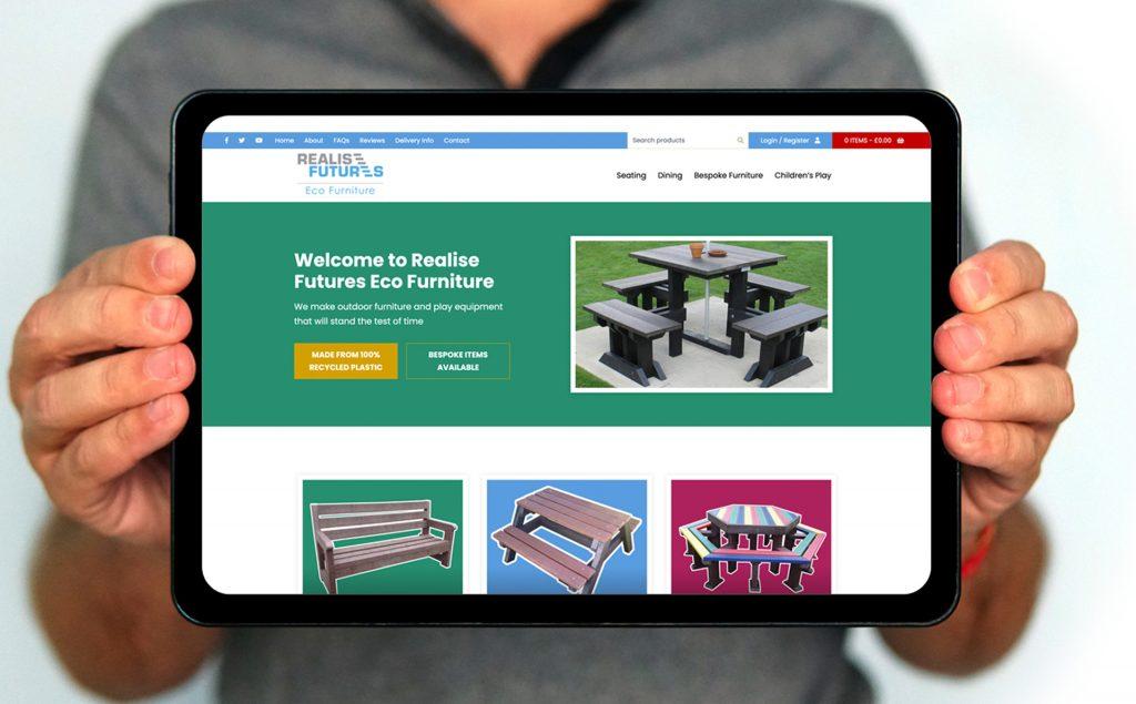 Realise Futures Eco Furniture Ecommerce website