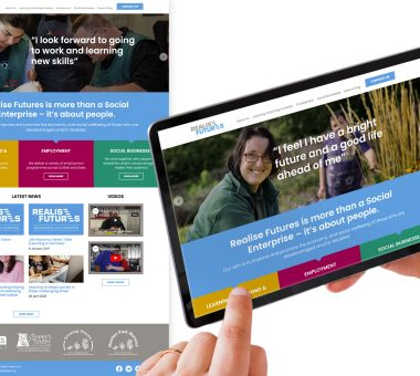 Realise Futures corporate website design