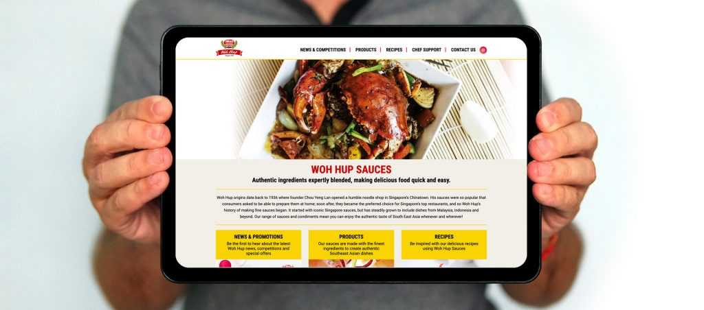 Westmill Woh Hup Sauces Website
