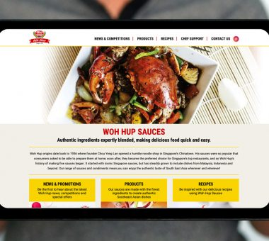 Westmill Woh Hup Sauces website design
