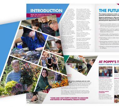 Realise Futures Annual Report brochure design